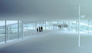 Et udsnit fra det 167 m lang bygning viser strukturens næsten totale