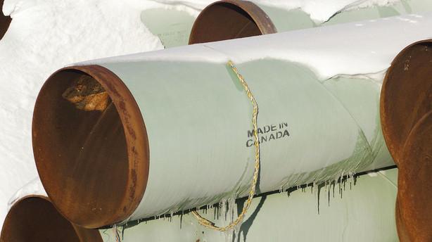 Canadisk selskab kr�ver 100 milliarder efter Keystone-stop