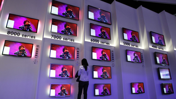 Danskerne vil have flere og st�rre fjernsyn