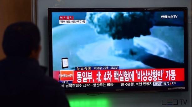 Nordkorea h�vder at have pr�vespr�ngt en brintbombe