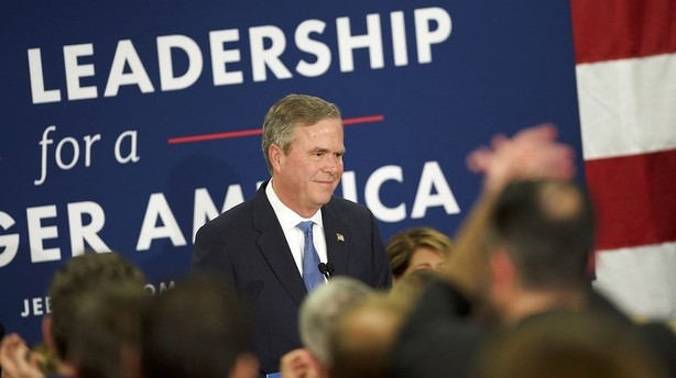 Trump vandt, Bush trak sig - men pilen peger p� Rubio