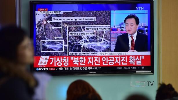 Sydkorea: Der er spor af brint efter bombespr�ngning