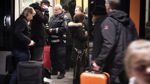Gr�nsekontrol gav ikke flere flygtninge p� Hovedbanen