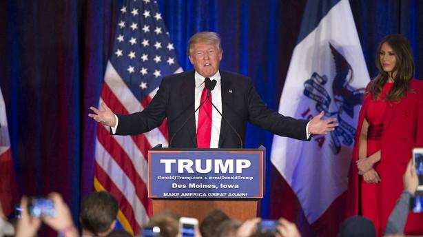 Trumps frygt blev til virkelighed ved skuffelse i Iowa