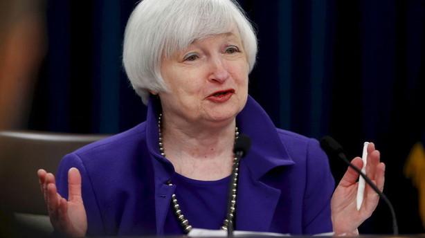 ECB og FED k�rer i hver deres retning: Alle �jne p� Yellen onsdag
