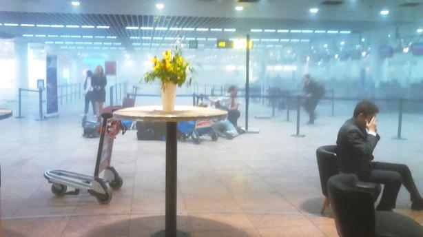 Eksplosioner i Bruxelles' lufthavn - flere meldes dr�bt