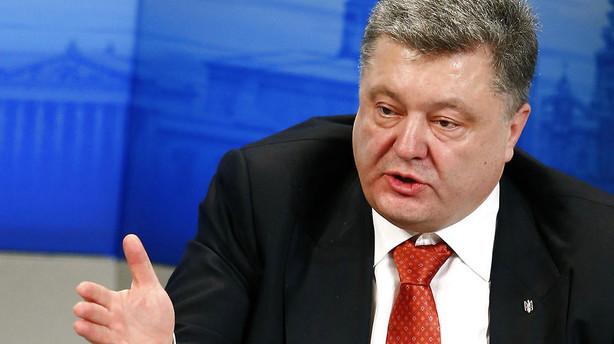 Ukraines pr�sident beder premierminister g� af