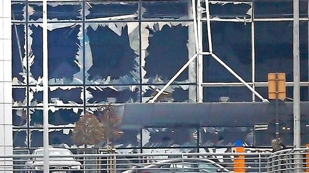 Bruxelles under angreb: Mindst 30 dr�bt af bomber i lufthavn og metro