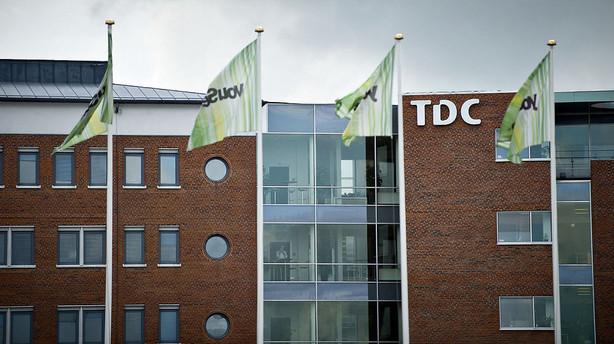 Aktier: TDC holder sig i gr�nt blandt lutter r�de aktier