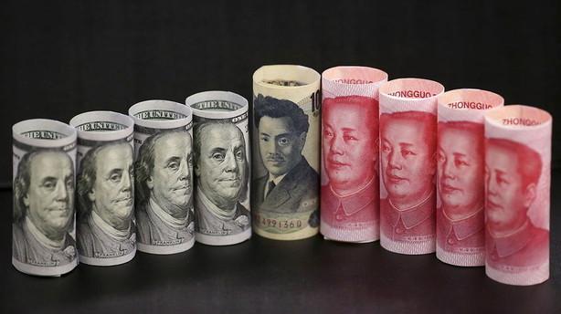 Valuta: Yen-styrkelse forts�tte med uformidsket kraft