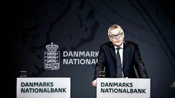 Nationalbanken nedjusterer v�ksten i dansk �konomi
