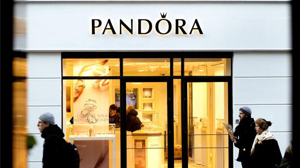 Det glimter hos Pandora -  fremgang p� 40 pct.