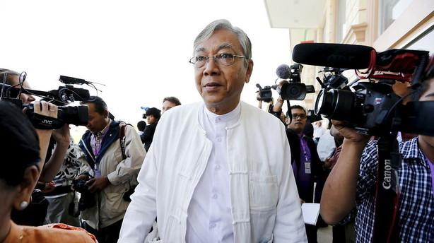Suu Kyis ven favorit ved historisk pr�sidentvalg i Myanmar