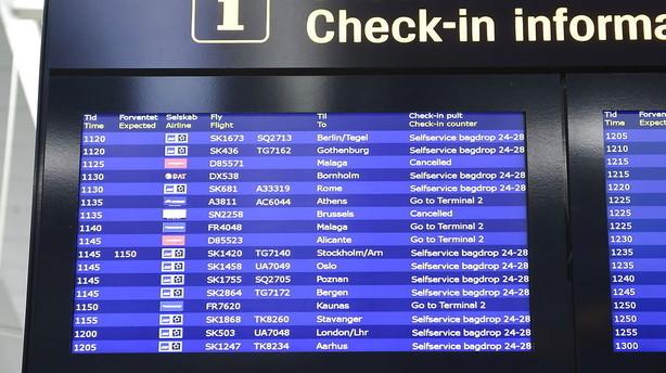 Omkring 1000 flypassagerer ber�rt af angreb i Bruxelles