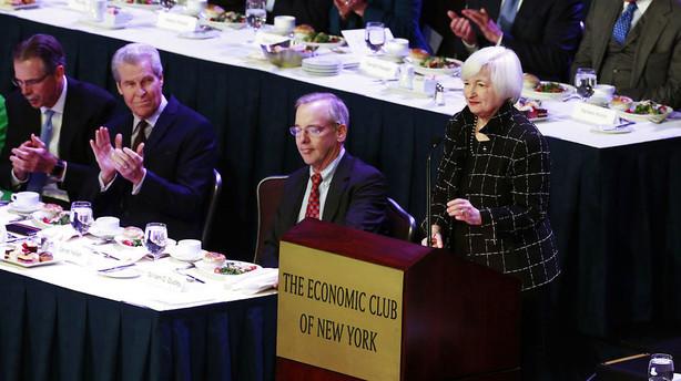 Yellen udviser forsigtighed med h�jere renter