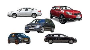 De fem bedste brugt-biler i 2015