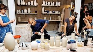 Lerpotteporno: M�d den sexede keramiker