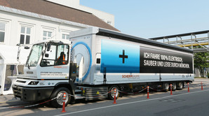BMW sender 40 tons el-lastvogn p� gaden