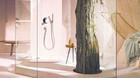 Glem klinker og koldt st�l - naturen flytter ind p� badev�relset