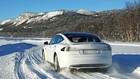 Tesla p� glatis i Norge: 0-100 km/t p� syv sekunder