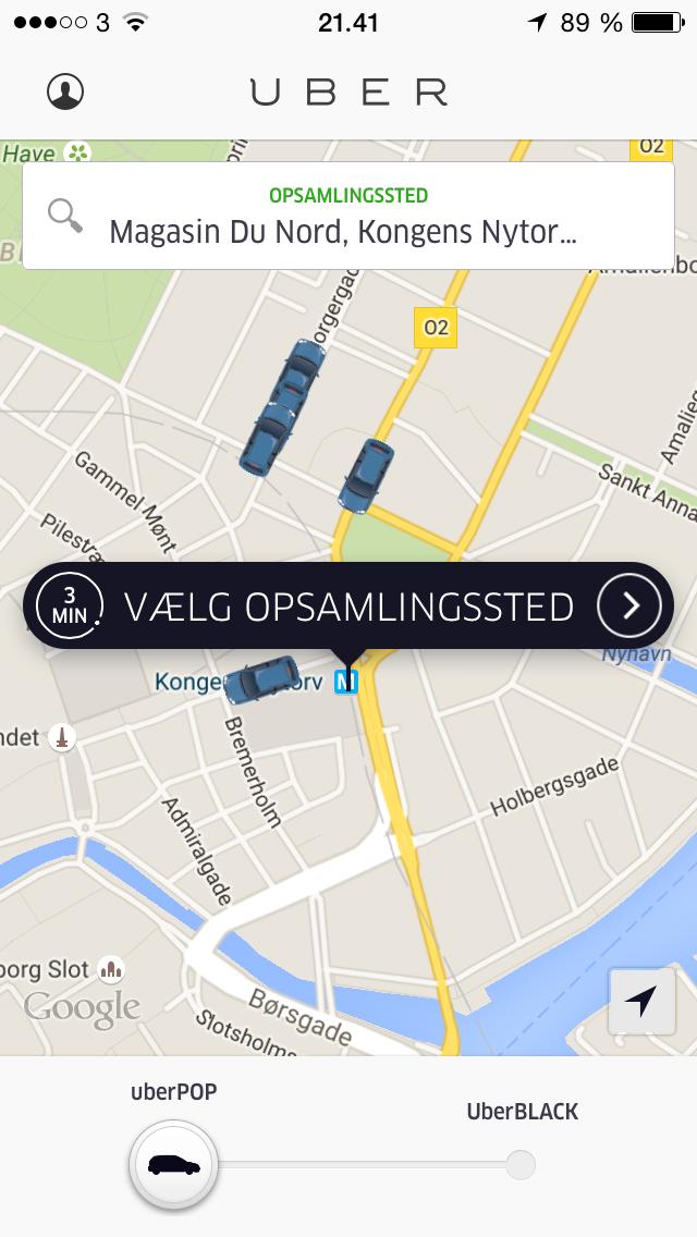 kbh taxi job kort over christiansborg