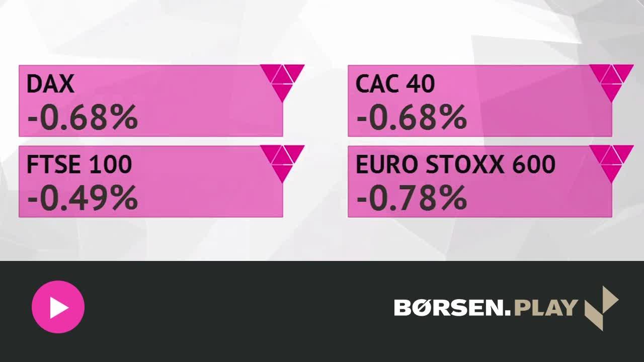 Dårlige regnskaber og oliepris trykker europæiske aktier i minus