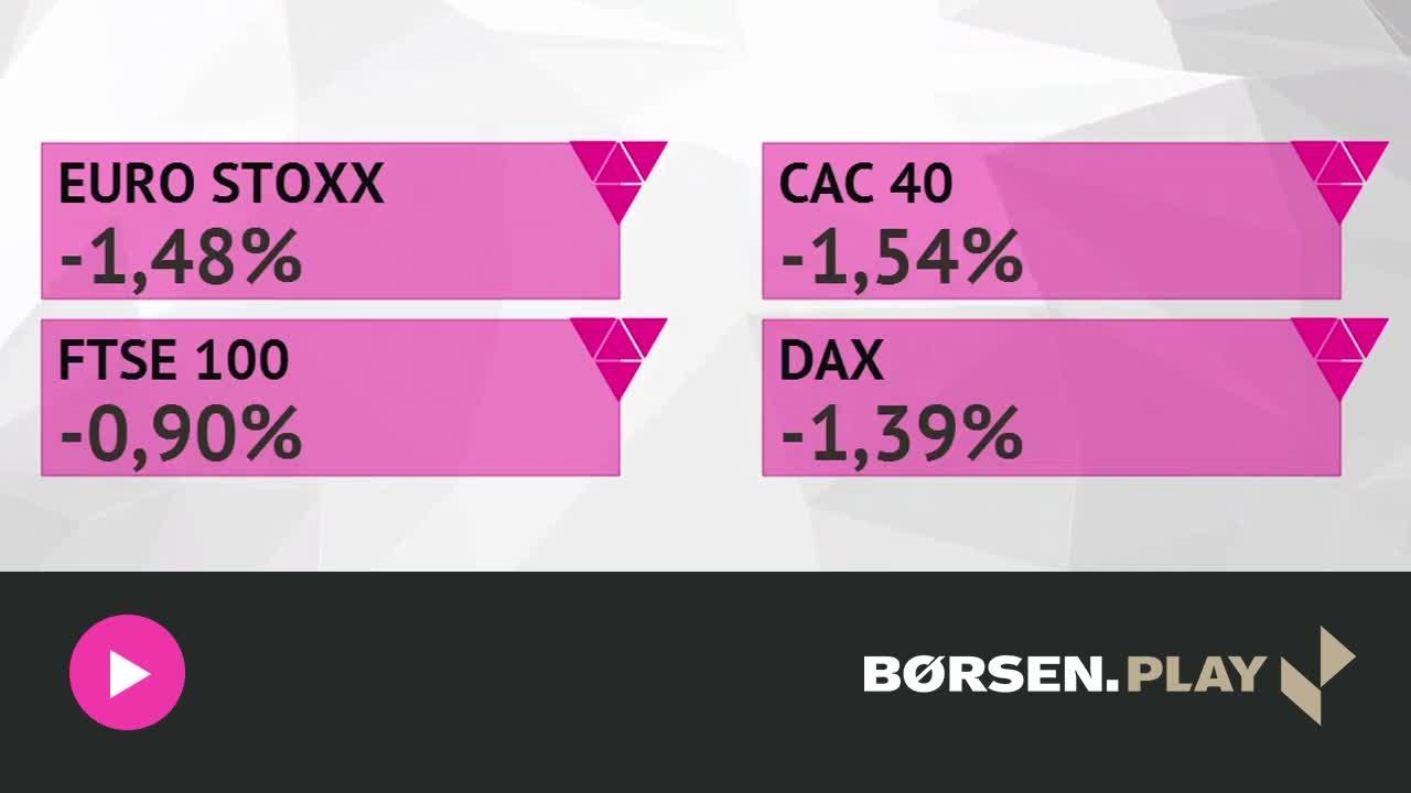 Defensive aktier stiger i rødt marked