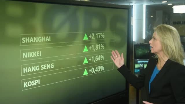Mens du sov: Pæne stigninger i Asien - håb om handelsaftale