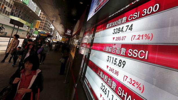 Aktiepanik i Kina: Al handel er stoppet efter store dyk