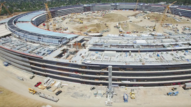 Drone-video afslører: Apple-hovedkvarter er næsten færdigt