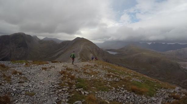 Erhvervsfolk til hård skotsk eksamen i løbesko