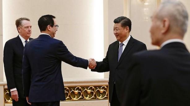 Amerikansk finansminister kalder handelsmøde i Kina produktivt