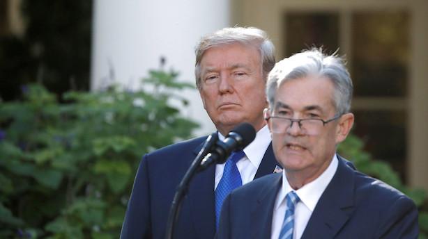 Trump langer atter ud efter Federal Reserve
