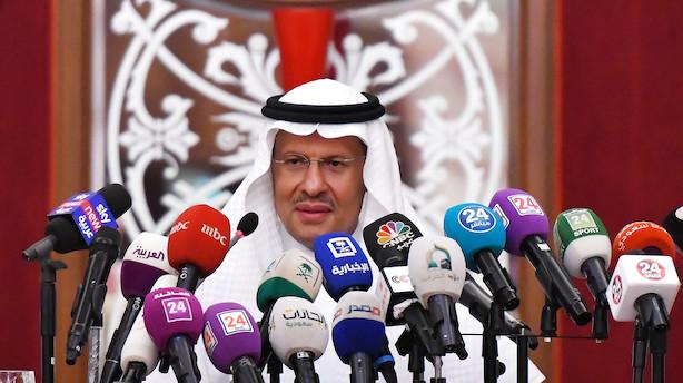 Energiminister: Saudisk olieproduktion tilbage på sporet inden oktober