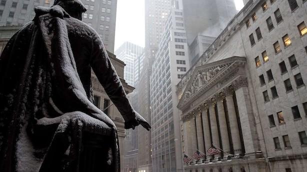 Wall Street-bonusser steg for første gang i tre år