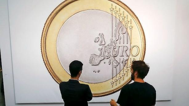 Euro banker opad efter Merkels gennembrud: Højeste niveau i tre år