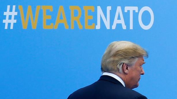 """Trump i ny tweet: Nato-lande skal betale ved kasse ét """"øjeblikkeligt"""""""