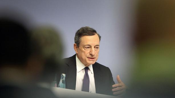 Den Europæiske Centralbank fastholder som ventet renten