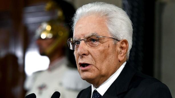 Italiens præsident sætter tirsdag som frist for ny regering