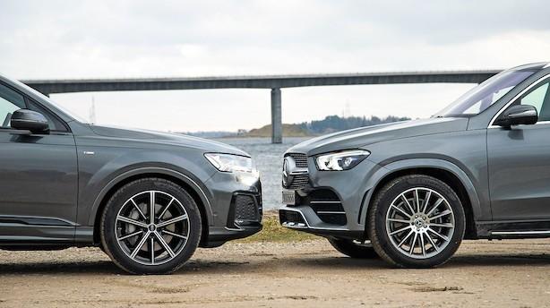 Luksus-SUV'er fra Audi og Mercedes-Benz i dyst på silkeblød affjedring