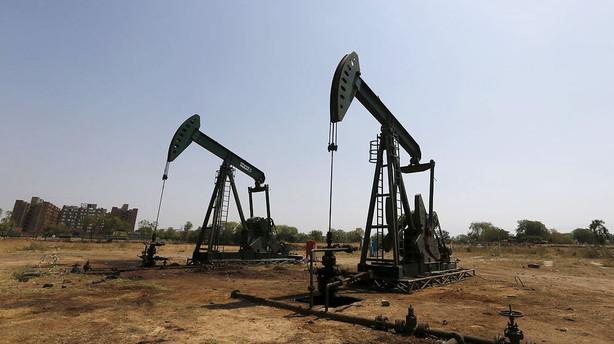 Olieprisen falder efter data for aktive olierigge
