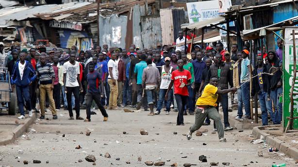 Børn dræbt under protester over valgresultat i højspændte Kenya