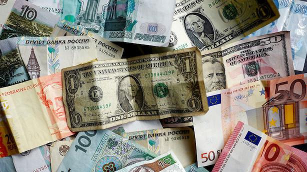 Valuta: Sidelæns handel med små udsving