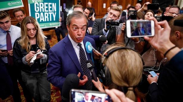 Nigel Farage er valgets store vinder i Storbritannien - nedsmeltning til de konservative