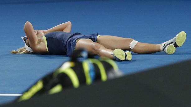 Formidable Wozniacki vinder første grand slam-titel