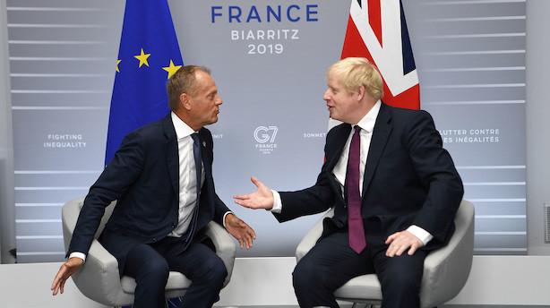 Boris Johnson til Tusk: Brexit-aftalens bagstop er antidemokratisk