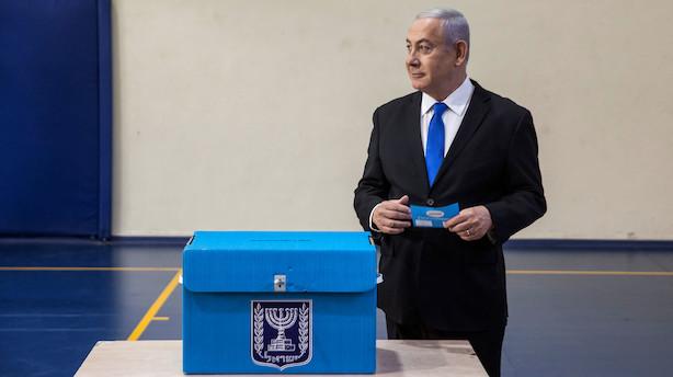 Vinder kan endnu ikke kåres ved tæt israelsk valg