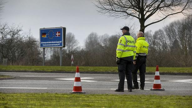 Politiet afviser rekordmange ved grænsen til Tyskland