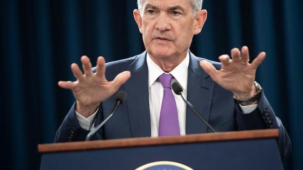 Jerome Powell holder den amerikanske rente i ro - men ser gradvise stigninger forude
