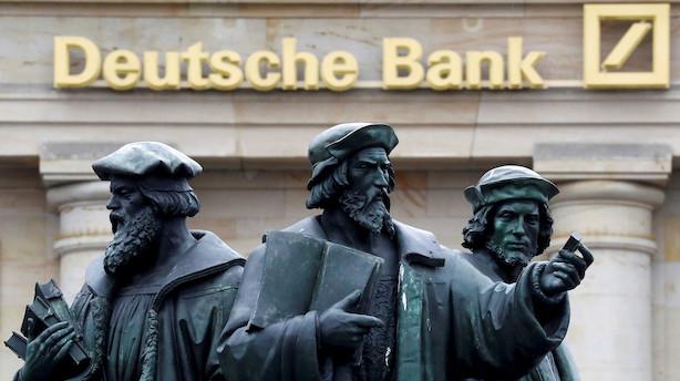 Deutsche Bank skrotter globale aktieaktiviteter i omlægning
